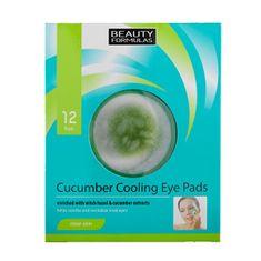Beauty Formulas Chladiace vankúšiky pod oči ( Cucumber Cooling Eye Pads) 12 ks