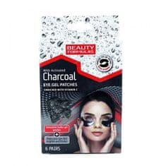 Beauty Formulas Poduszki pod oczy aktywowane Charcoal drzewnym (Eye Gel Patches) 6 par