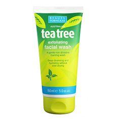 Beauty Formulas Exfoliační čisticí gel Tea Tree (Exfoliating Facial Wash) 150 ml