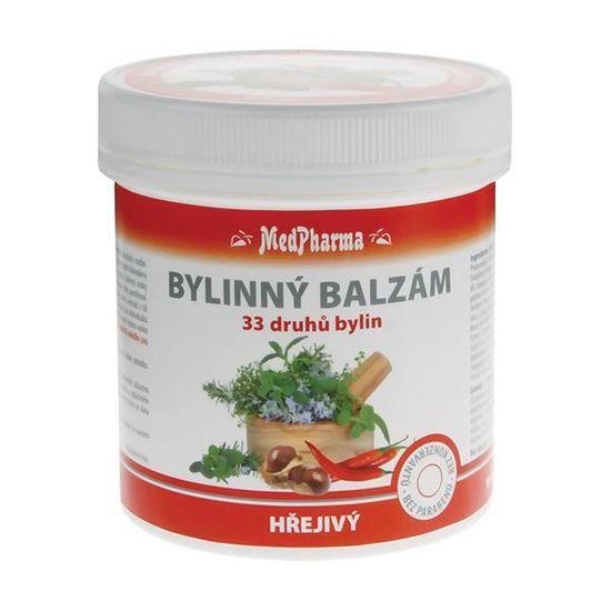 MedPharma Bylinný balzam hrejivý 33 druhov bylín 250 ml