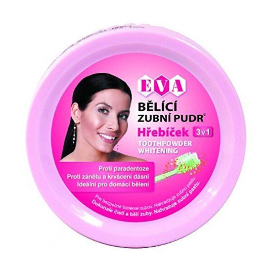 Eva Cosmetics Bieliace zubné púder (klinček) 3v1 30 g