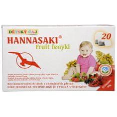 Hannasaki Hannasaki Fruit fenikel - detský ovocný čaj 20 sáčkov