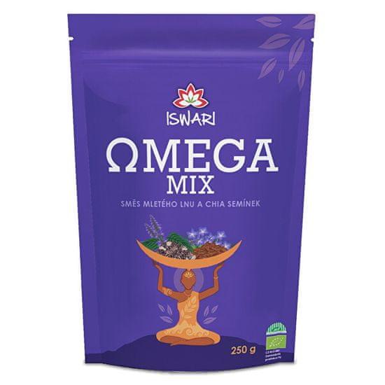 Iswari BIO Omega Mix (zmes mletých semienok chia, hnedý ľan) 250 g