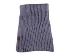 ORSI Zimní šála pletená 25x175 šedá