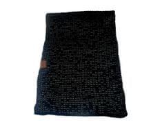 ORSI Zimní šála pletená 25x175 černo šedá