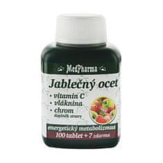 MedPharma Jablčný ocot + vitamín C + vláknina + chróm 100 tbl. + 7 tbl. ZD ARMA