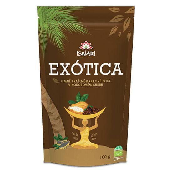 Iswari BIO Kakaové bôby v kokosovom cukru Exotic 100 g
