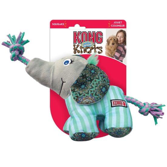 KONG Knots Carnival igrača za pse, Elephant, M/L