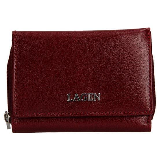 Lagen Dámská kožená peněženka 50453 Cherry