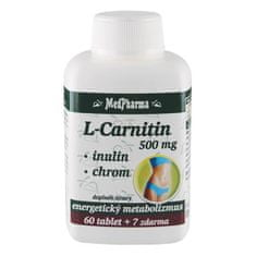 MedPharma L-Carnitin 500 mg + inulin + chrom 60 tbl. + 7 tbl. ZDARMA