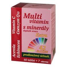 MedPharma Multivitamín s minerálmi 42 zložiek, extra C + Q10 60 tbl. + 7 tbl. ZD ARMA
