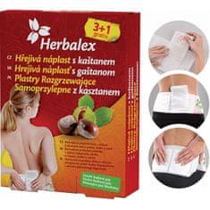 Herbamedicus Hrejivé náplasti s gaštanom 3 + 1 gratis + bedrový pás