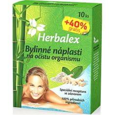 Herbamedicus Bylinné náplasti na očistu organizmu 10 + 40% GRATIS 14x9g