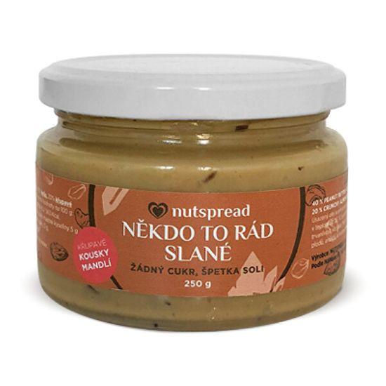Nutspread Někdo to rád slané - Arašídový krém s kešu, mandlemi a solí