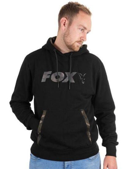 Fox Mikina Black / Camo Print Hoody