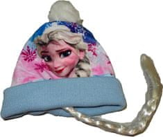 Disney Zimní čepice Frozen s Elsou a copem., 52