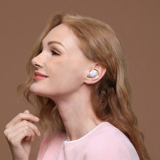 BASEUS Encok WM01 Plus TWS bezdrátové sluchátka, bílé
