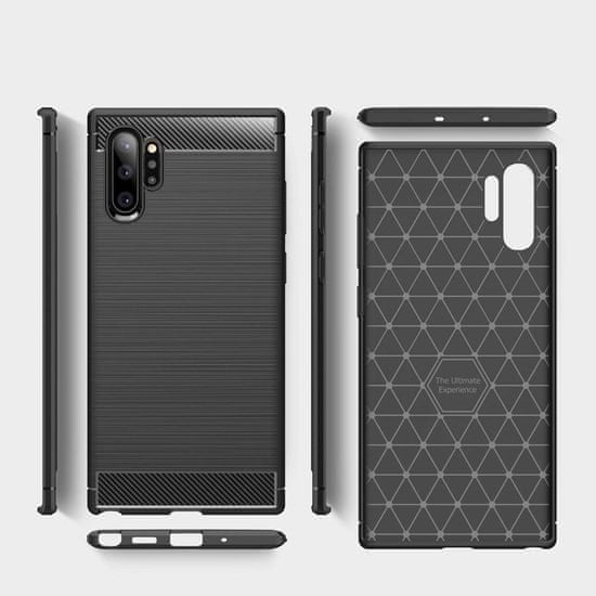 MG Carbon Case Flexible silikonski ovitek za Samsung Galaxy Note 10 Plus, črna