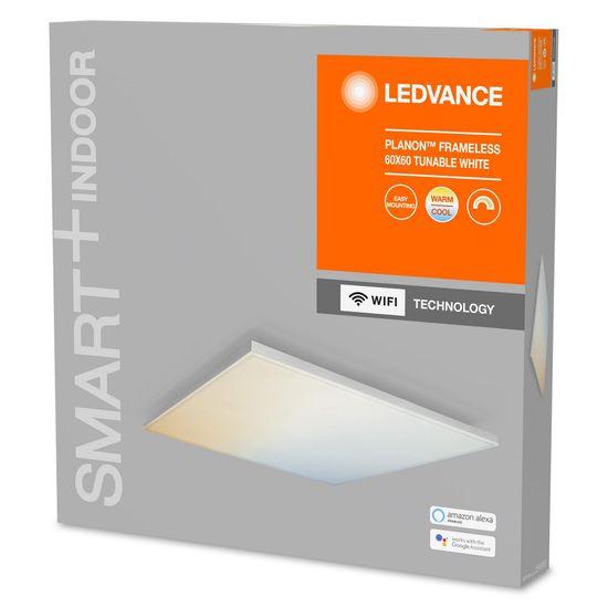LEDVANCE Smart+ Planon Frameless Square svetilka WIFI TW 600 x 600