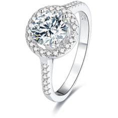 Beneto Srebrny pierścionek z kryształkami AGG193 (obwód 52 mm) srebro 925/1000