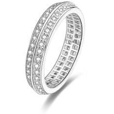 Beneto Stříbrný prsten s krystaly AGG203 (Obvod 52 mm) stříbro 925/1000