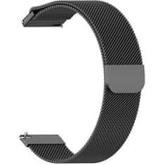 4wrist Milánský tah - Černý (Šířka 18 mm)