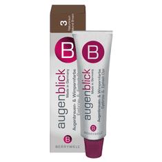 Berrywell Barva na obočí a řasy Augenblick 15 ml, 3 hnědá
