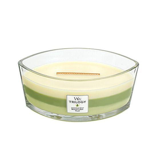Woodwick Čoln z dišečimi svečami Trilogy Garden Oasis 453,6 g
