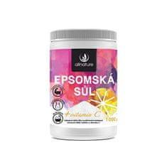 Allnature Epsomská soľ s vitamínom C 1 000 g