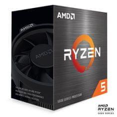 AMD Ryzen 5 5600X procesor, 6 jeder, 12 niti, Wraith Stealth hladilnik, 65 W (100-100000065BOX)