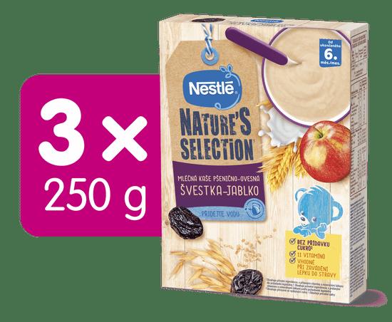Nestlé Mléčná kaše Pšenično-ovesná Jablko Švestka 3x250 g