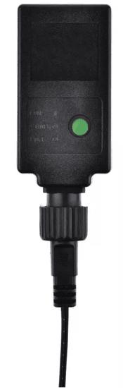 Emos 40 LED svetlobna veriga 4 m, vintage, IP44, časovnik, zelena