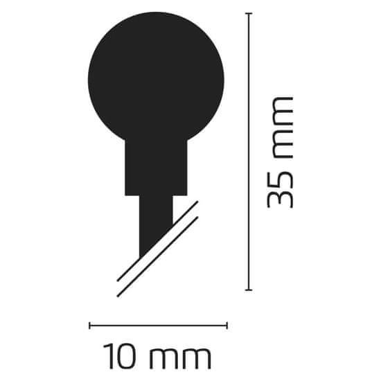Emos 80LED svetlobna veriga - češnje, 8 m, IP44, topla bela, časovnik