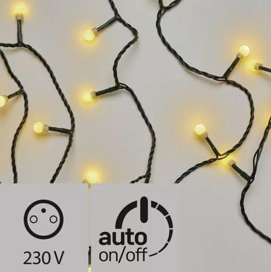 Emos 200LED svetlobna veriga - češnje, 20 m, IP44, topla bela, časovnik