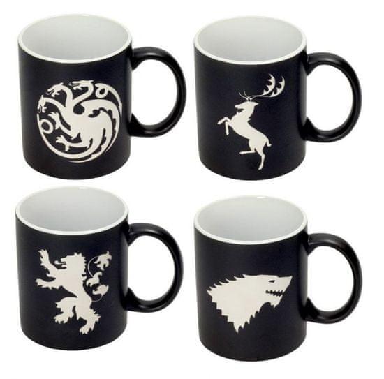 Kubki Game of Thrones - Emblems (zestaw czterech kubków)
