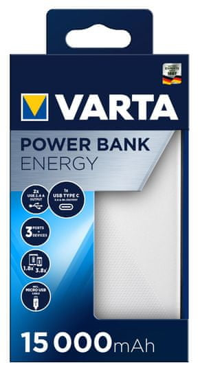 Varta Power Bank Energy 15000 (57977101111)