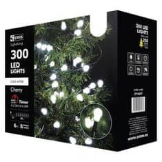 Emos 300LED svetlobna veriga - češnje, 30 m, IP44, hladna bela, časovnik - Odprta embalaža