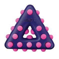 KONG Dotz igrača za pse, trikotnik, vijolična, L