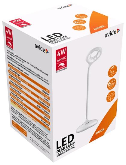 Avide LED namizna svetilka and USB - akumulatorska and 4W and nevtralno bela 4000K