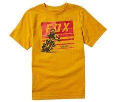 Fox dětské tričko Youth Advantage Ss mustard vel. YXL