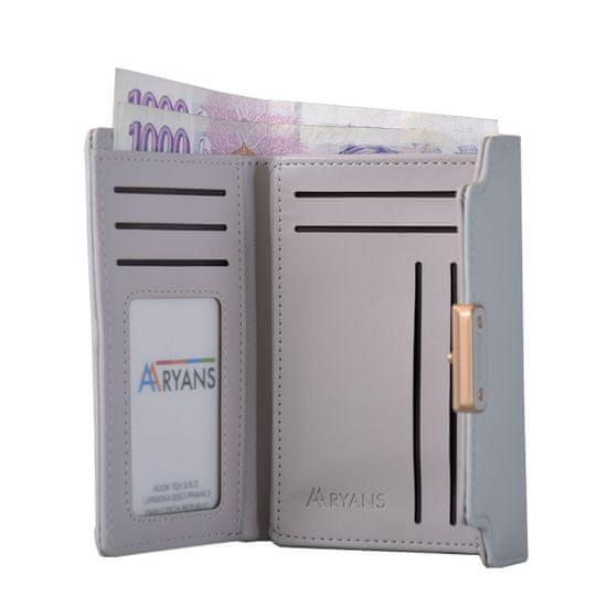 Aaryans Dámská peněženka PT19-1398 šedá