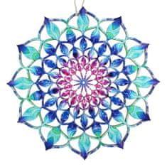 AMADEA Dřevěná dekorace mandala barevná 9 cm