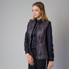 Willsoor Dámská prošívaná vesta tmavě šedé barvy 12208