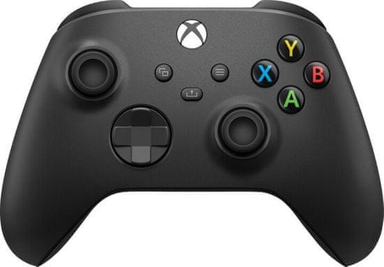 Microsoft Xbox Wireless Controller + kabel pro Windows, černá (1V8-00002)