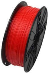Gembird tisková struna, ABS, 1,75mm, 1kg, fluorescentní červená (3DP-ABS1.75-01-FR)