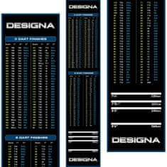 Designa Gumový koberec Checkout 290x60cm, modrý, s povrchem ze syntetického vlákna