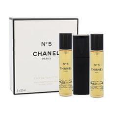 Chanel No. 5 - EDT 20 ml (plnitelný flakon) + náplň 2 x 20 ml