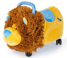 Teddies Odrážedlo FUNNY WHEELS Rider Ride-On lvíček plyšový modrý