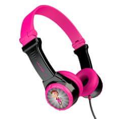 Jlab JBuddies Folding Kids slušalke, črno-roza