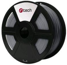 C-Tech tisková struna, PETG, 1,75mm, 1kg, stříbrná (3DF-PETG1.75-S)